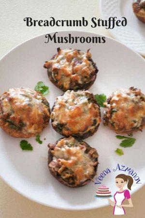 Breadcrumb Stuffed Mushrooms
