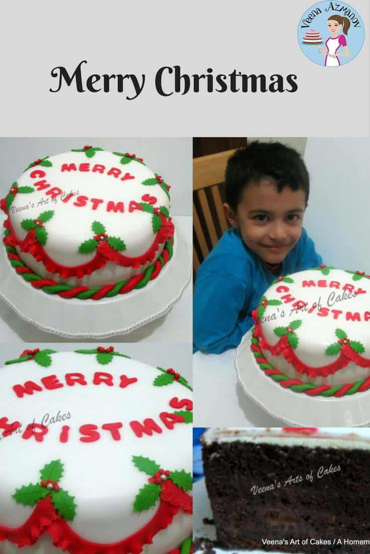 I made this Christmas Cake for the family this week. Simple easy and effortless. Wish you all a Merry Christmas. I wish you and your family have a wonderful holiday.