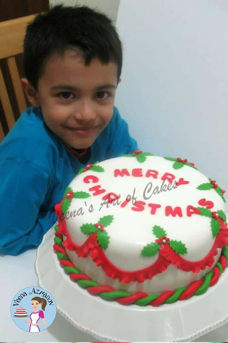 Christmas Cake for the family 2012 and Greetings
