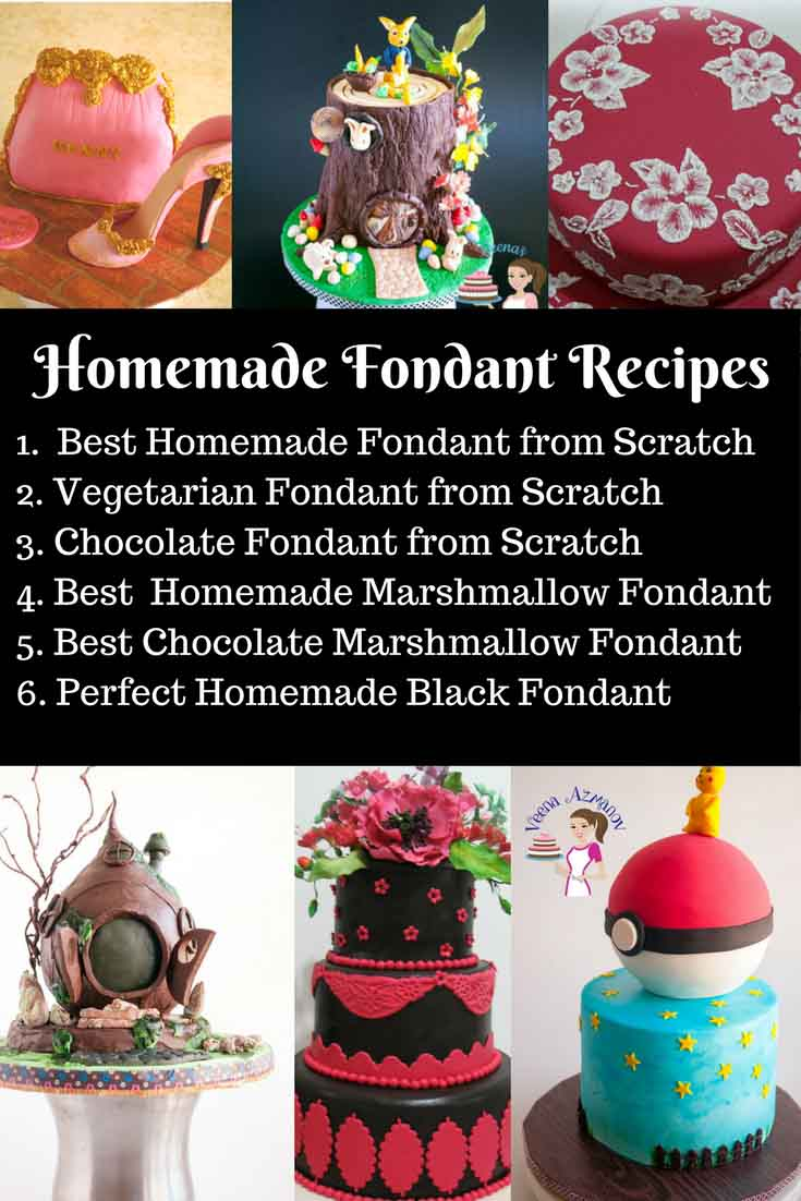 A Collection of Homemade Fondant Recipes on this blog by Veena Azmanov