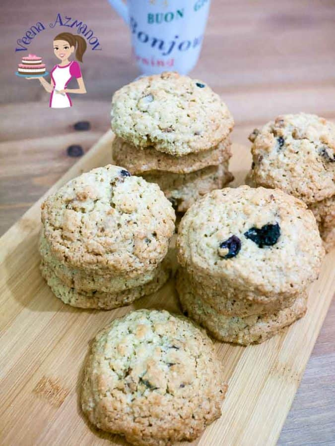 Nothing beats the smell and taste of home baked fresh Oatmeal cookies. The addition of oatmeal with the fruit and nuts makes them a sumptuous and perfect for a snack or even a quick breakfast