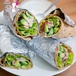 Super Easy Healthy Chicken Wrap with Avocado and Yogurt Dressing