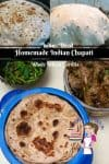 Indian Chapati is a flatbread recipe made with whole wheat flour. It's much healthier, delicious and easy to make with no special skills or gadgets needed. You can serve them with Indian food or use as a wrap for sandwiches too. This simple easy and effortless recipe will get you hooked onto the Indian Chapati Instantly.