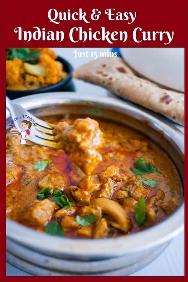 Chicken Curry, Indian, Quick and Easy in just 15 minutes