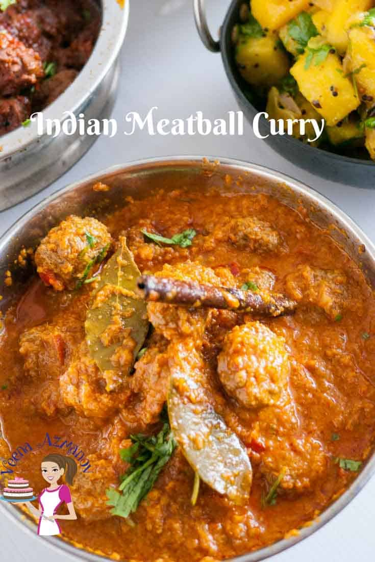 This spiced meatball curry is packed with Indian flavors thru and thru. The meatballs are juicy, tender and soaked in a curry that is flavored with exotic Indian spices and creamy yogurt. It's simple, easy and very authentic.