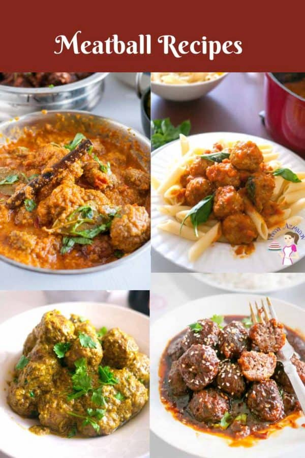 A Collection of Meatball Recipes from Spicy Indian to Zingy Mongolia to Sweat Meatball Pasta.