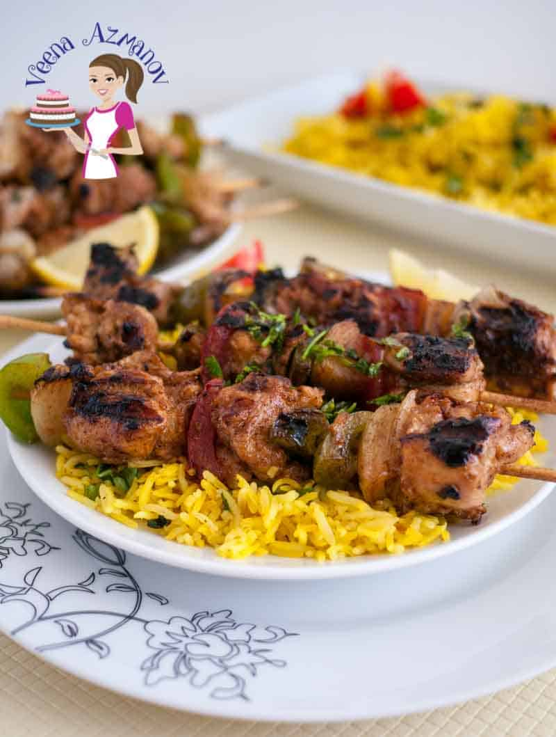 An image optimized for social share for these step by step tutorial on how to make Moroccan Chicken Kebobs aka Moroccan Chicken Skewer, perfect for summer BBQ