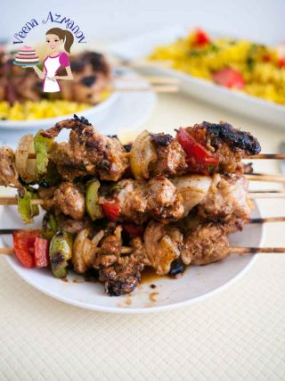 Moroccan Chicken Skewers aka Chicken Kebabs