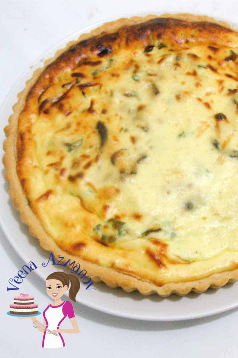 A perfect treat to any brunch, lunch or dinner. This light and nutritious mushroom ricotta cheese tart is simple, easy and a party pleaser. Use store bought or homemade crust; the filling is so simple and easy that this tart can be ready in less than an hour