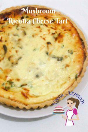 Mushroom Ricotta Cheese Tart Recipe