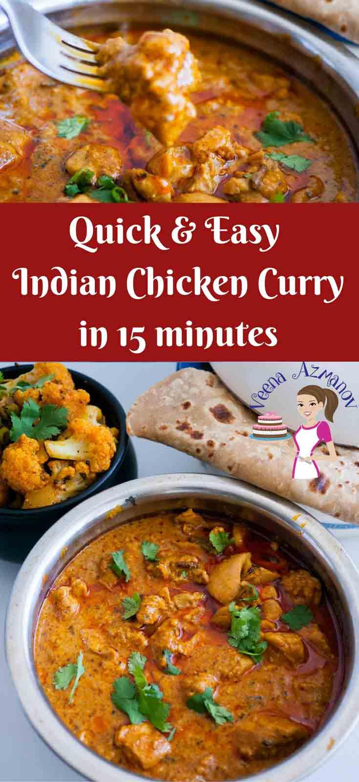 This quick and easy Indian Chicken Curry is a real treat. Made with exotic Indian spices like cumin, coriander and garam masala with added zing from tomato paste and sour cream and the gorgeous color from sweet hot paprika.