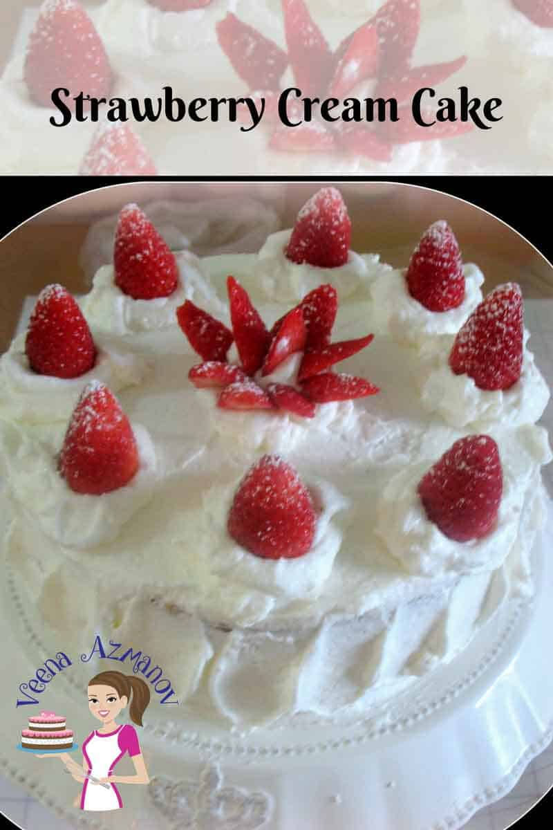 Simple and Easy Strawberry Cream Cake