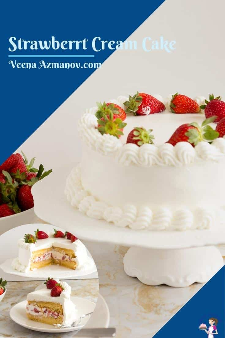 A pinterest image for cake