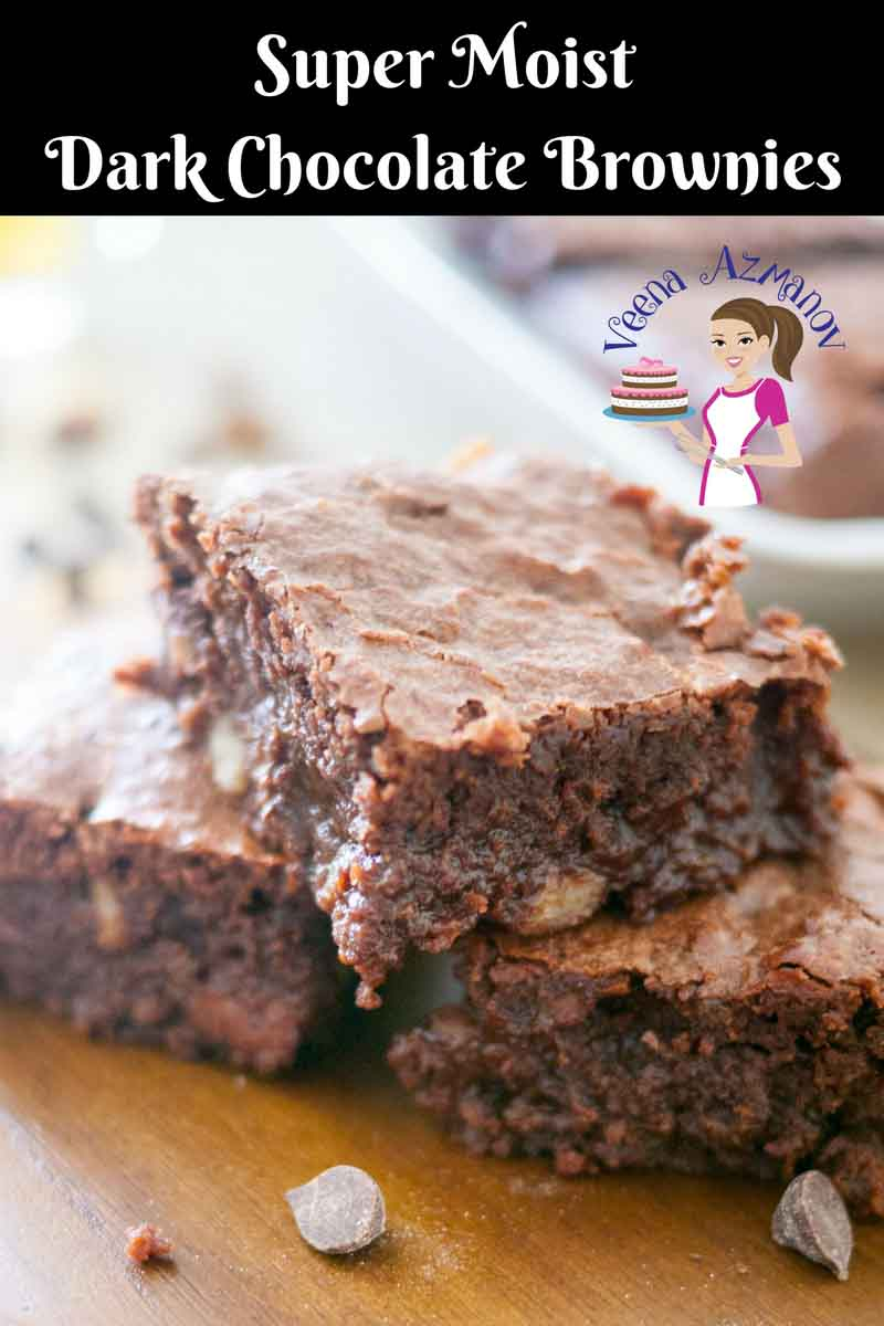Moist dark chocolate brownie recipe chocolate brownies veena azmanov a social media optimized image for dark chocolate brownies this chocolate brownies is to die forumfinder
