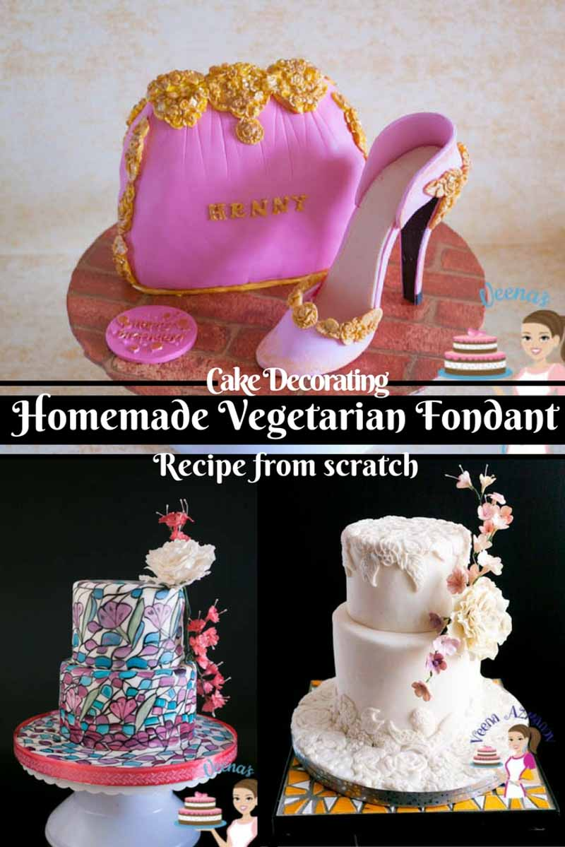 This homemade vegetarian fondant recipe is simple easy and derived from my most popular recipe on this blog homemade fondant recipe from scratch. It is suitable for all kinds of cakes and temperatures and needs no special tools or equipment.