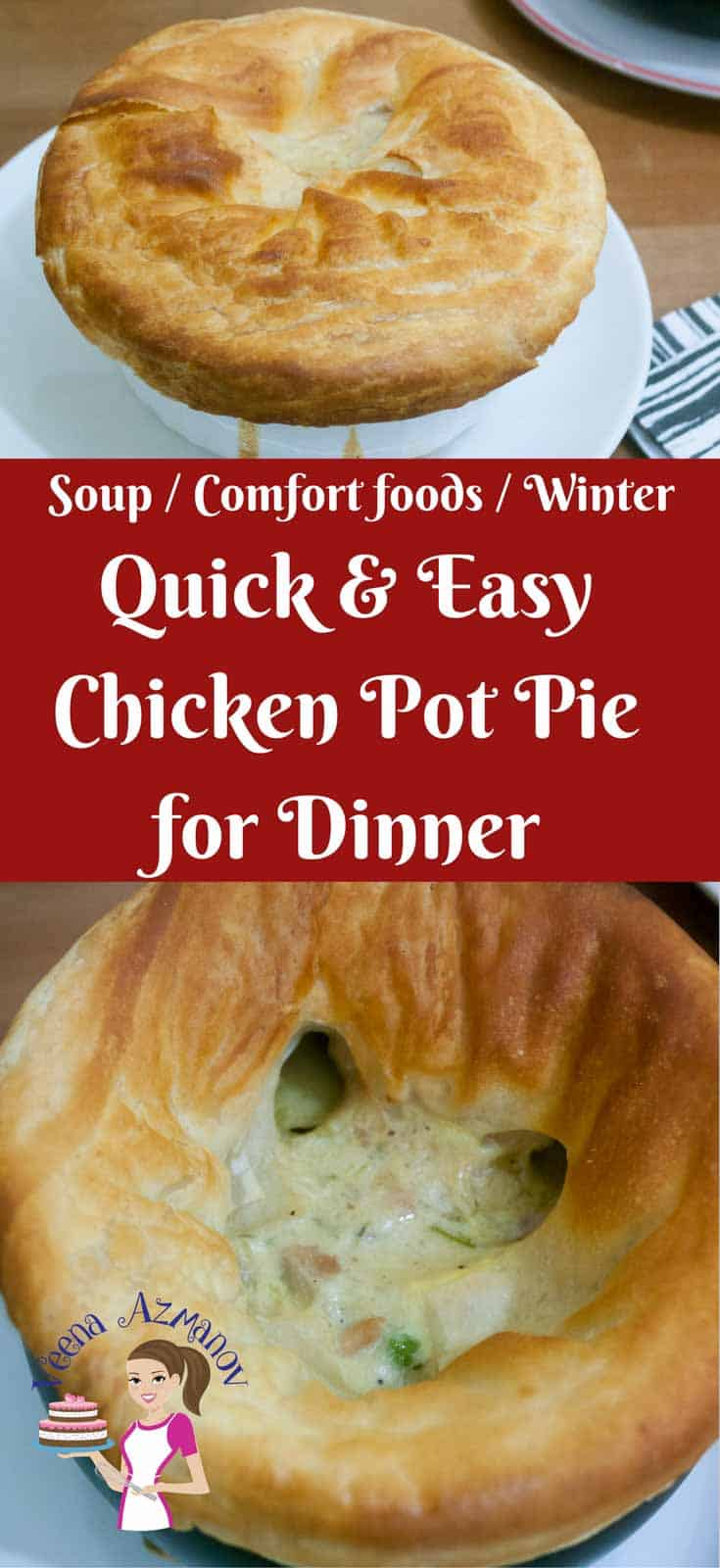 Quick and easy chicken pot pie for dinner veena azmanov recipe card quick and easy chicken pot pie for dinner nothing says comfort food forumfinder Gallery