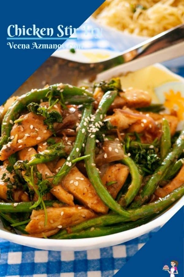 Pinterest image for Chicken and beans