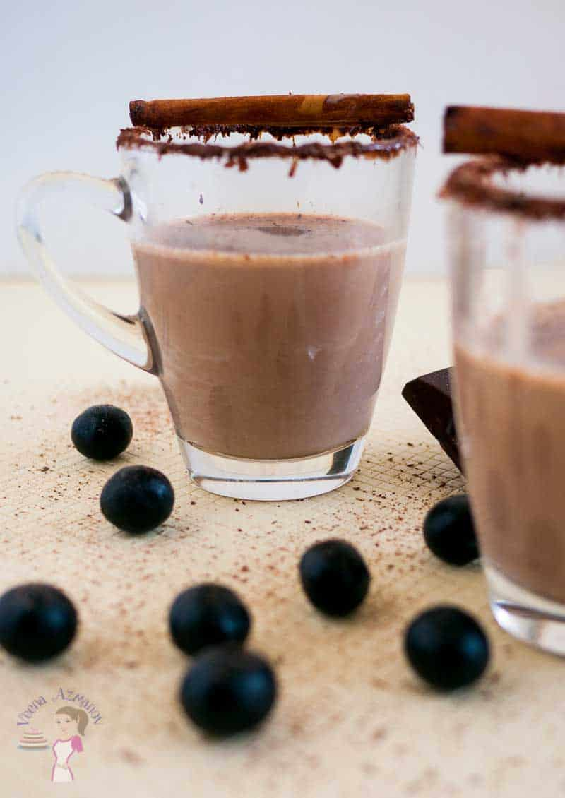 Cinnamon Mocha Hot Chocolate Milk featuring my Homemade Hot Chocolate Mix Recipe