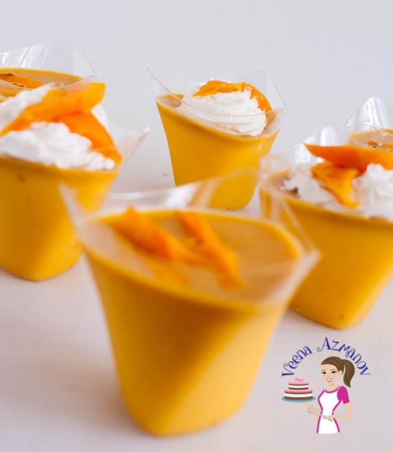 Mango pudding is a great summer treat, simple, easy and full of delicious fruit.  Made with simple eggless pudding as a base; topped with whipped cream and more fresh mangoes for that ultimate luxury.