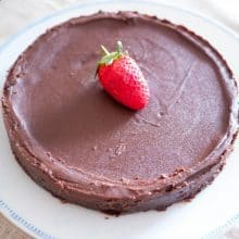Gluten-free cake on a plate.