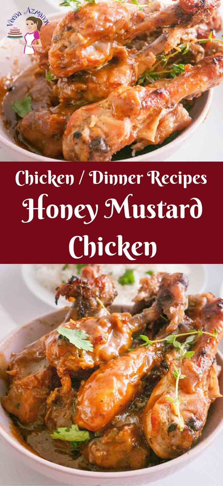 This classic honey mustard chicken is as easy as it can get. The chicken is marinated with a creamy honey mustard marinade then baked until golden. The resulting juices are thick and creamy. Serve it with a bowl of hot steaming rice or good old crusty bread.