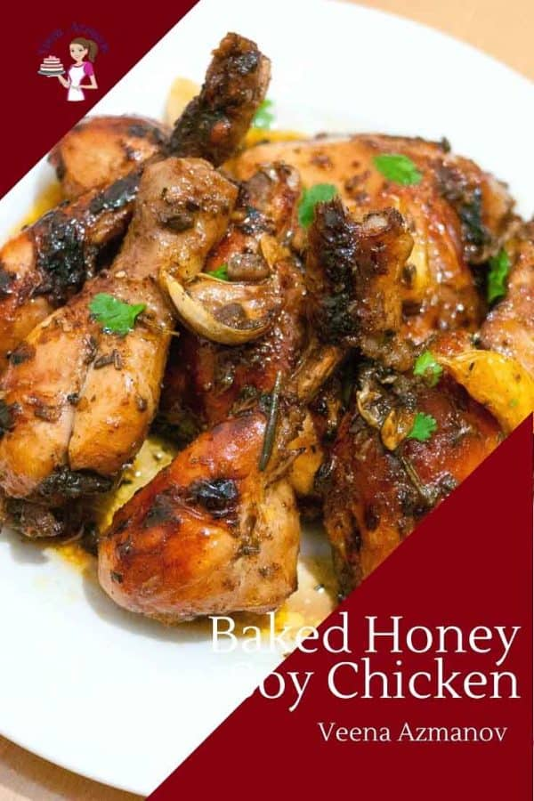A flavorful baked chicken recipe with a honey and soy marinade glaze in just 40 mins