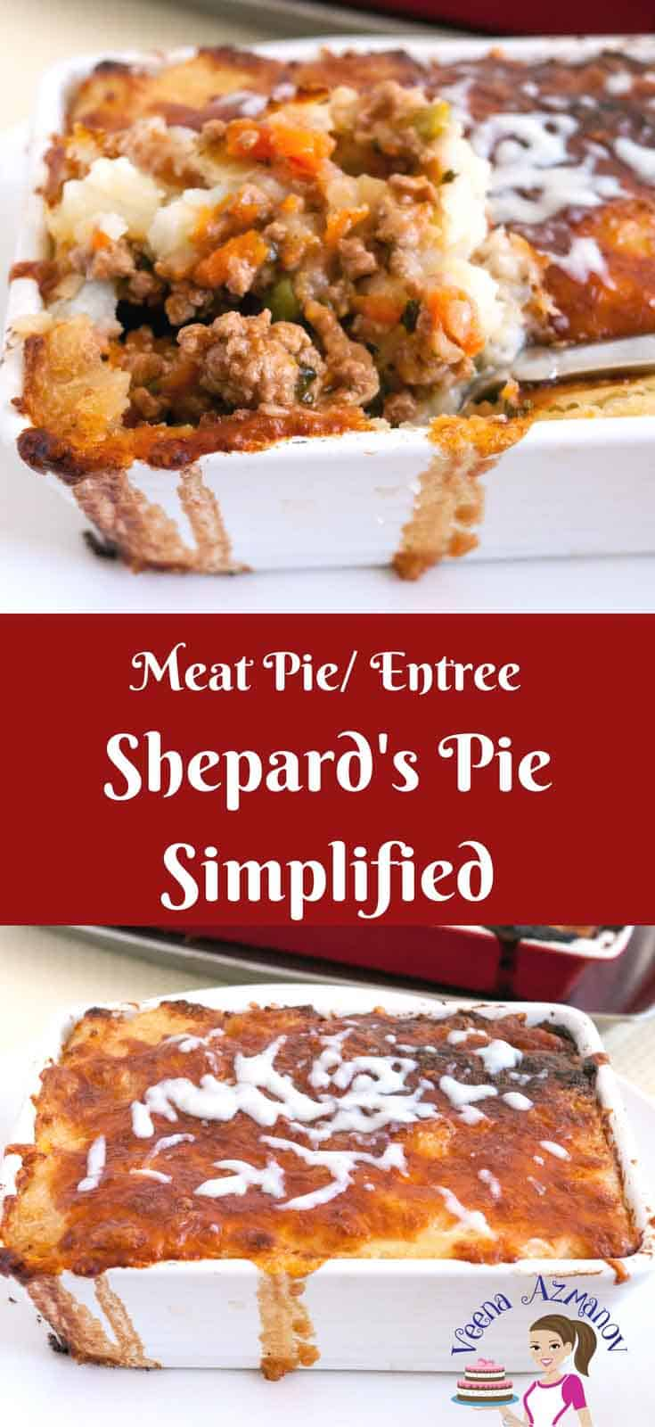 Nothing beats a delicious juicy meat and mashed potato casserole. That's what this Shepard's Pie is a quick and easy dinner that you will enjoy making over and over again. Flavored with cinnamon and Worcestershire sauce and cooked with traditional carrots peas and topped with that melting cheese makes everything more desirable.