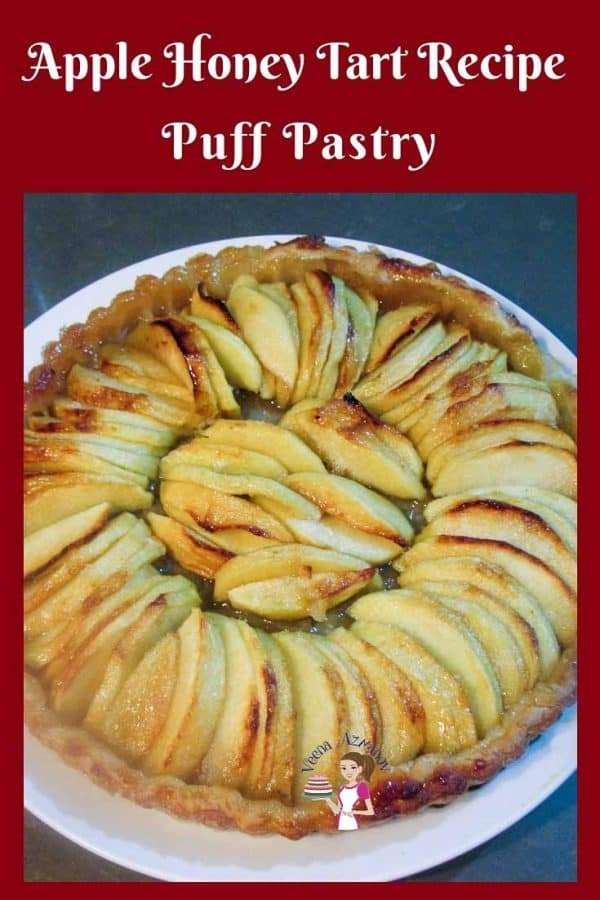 A step by step simple and easy apple tart recipe puff pastry with my easy to follow three step method. Delicious on its own or served with a scoop of ice cream.