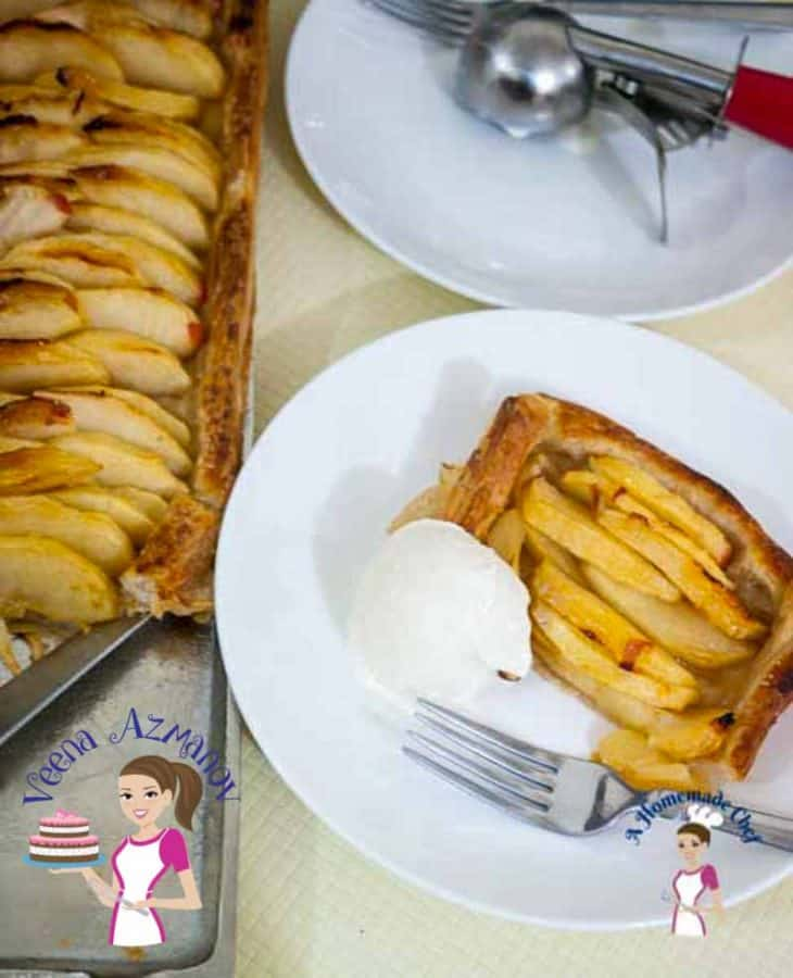 An apple dessert with five minutes hands on and baked in less than 30 minutes is an absolute treat any time of the year. This simple, easy and effortless quick and easy apple tart can be made in just three easy steps weather you serving it for the family on a week night or over dessert with some friends.