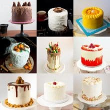 A Collage of cakes for flavor ideas.