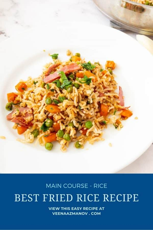 Pinterest image for fried rice.