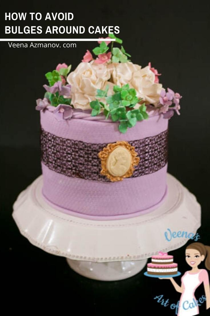 How to avoid bulges around cake