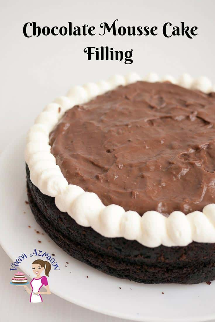 Featured Image - A rich decadent Chocolate Mousse Cake Filling can take a dessert to that ultimate luxury. Rich creamy but light and airy that just melts in the mouth is a dessert not to be missed. Weather you add it in between cake layers or to a chocolate trifle dessert recipe this is bound to wow your guest.