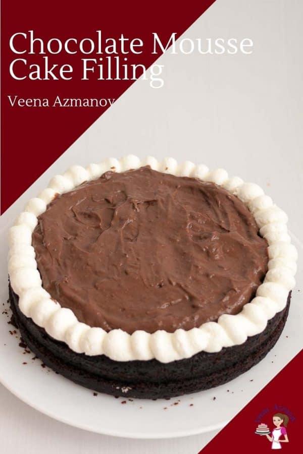 Chocolate mousse cake.