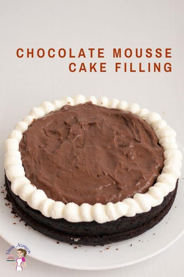 Learn to make the best mousse cake filling with chocolate.