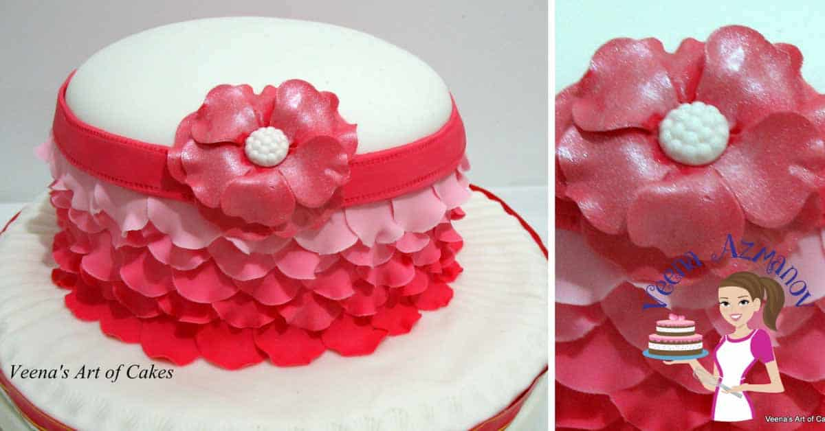 Fondant Ombre Rose Petal Cake Decorating Tutorials Veena Azmanov