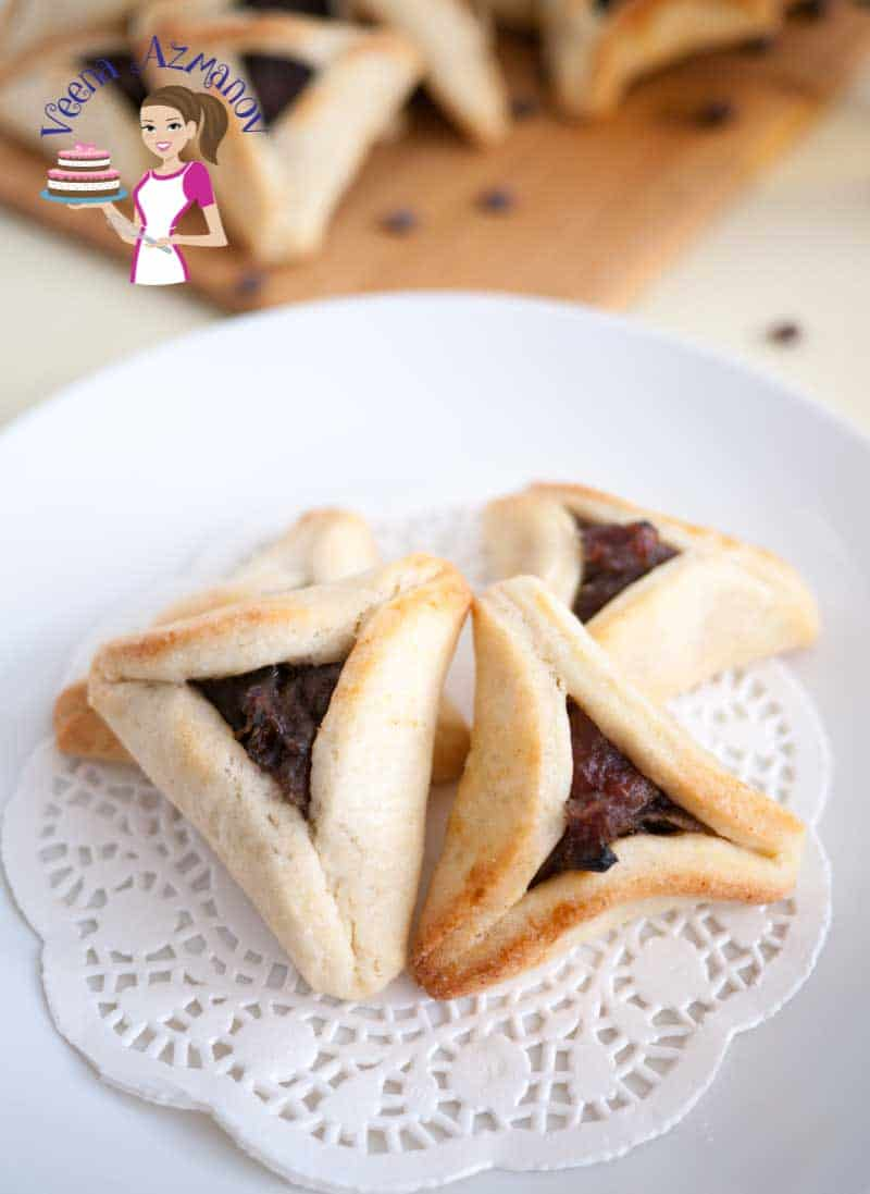Hamantaschen Cookies are a special treat during the Jewish Purim festival with hundreds of choices of fillings from traditional poppy seed and dates to modern chocolate, dulce de leche and more.