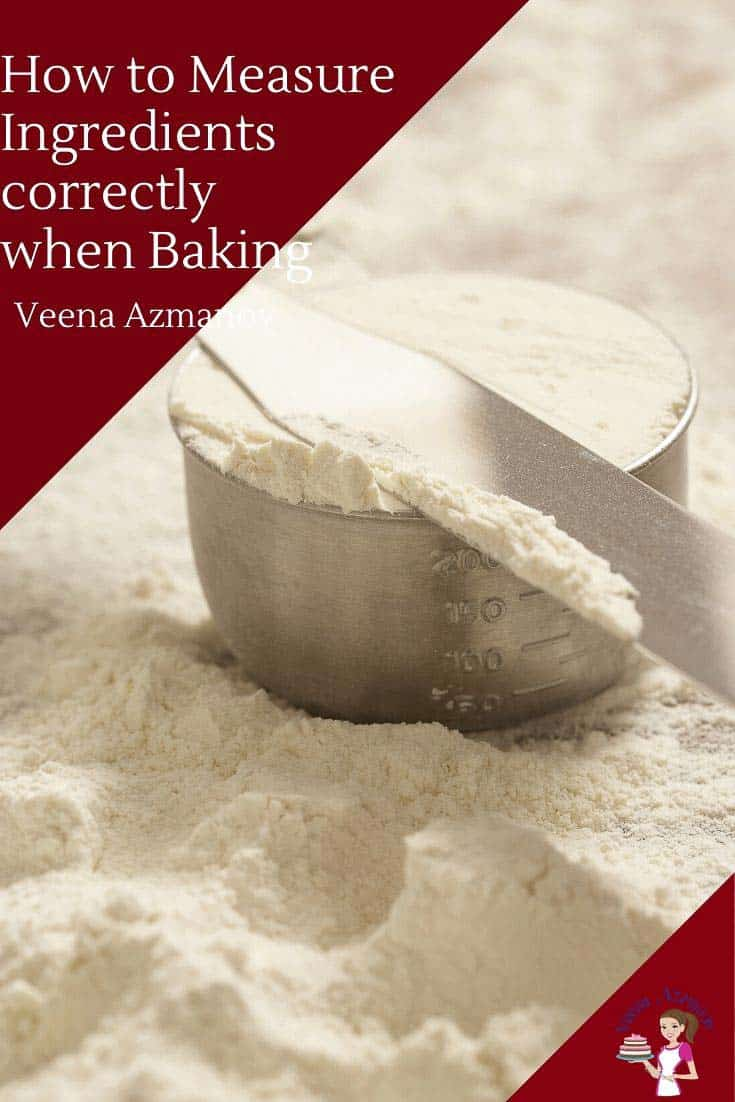 Measuring baking ingredients in a crucial part of the baking process. In some recipes more critical than the others. In today's tip Thursday we'll discuss how to measure your ingredients correctly so you can achieve the same results every single time. #measureingredients #bakingtips #bakingingredients #tipsthursday #tipsformeasuringingredients via @Veenaazmanov