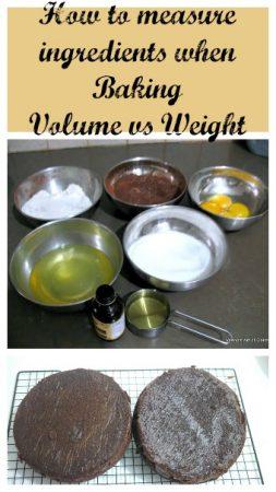 Measuring Baking ingredients – weight vs volume