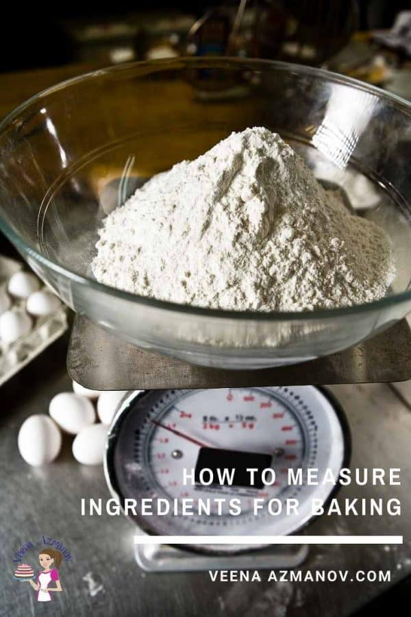 Flour on a weight scale.