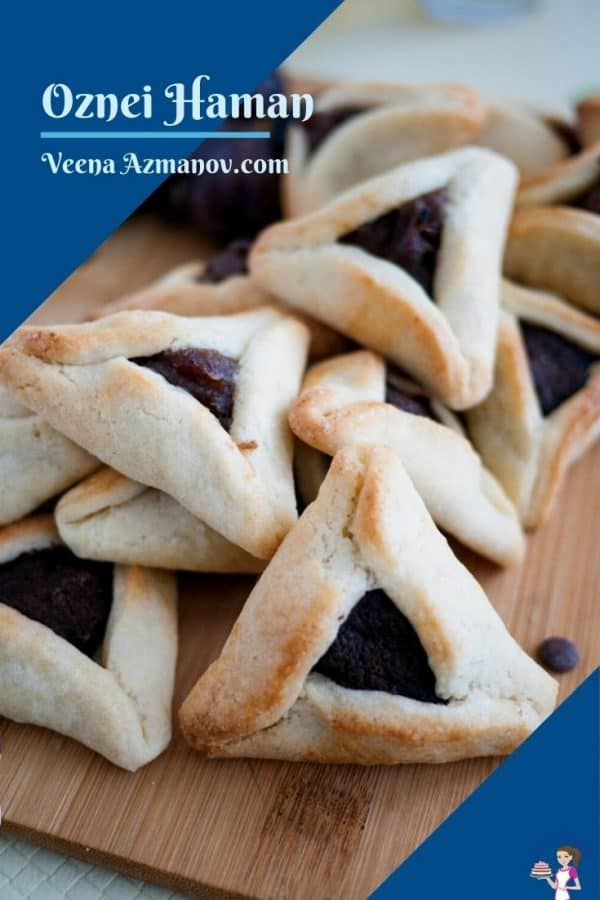 date purim cookies on a board