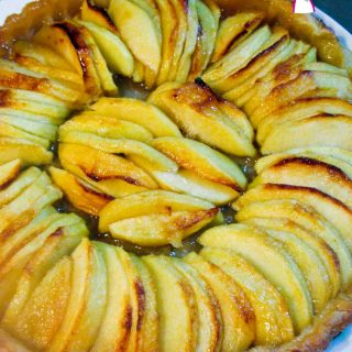 Top View - Quick And Easy Apple Tart in Three Easy Steps