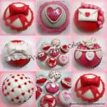 Valentine heart Inspired plus Stenciled Cupcakes