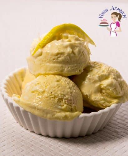 Lemon ice cream - no churn 3 ingredients