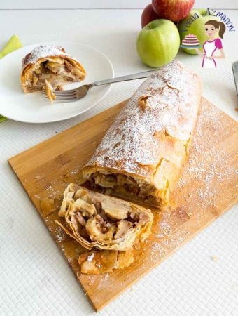 Easy Apple Strudel Recipe with Filo Pastry Recipe – with Video