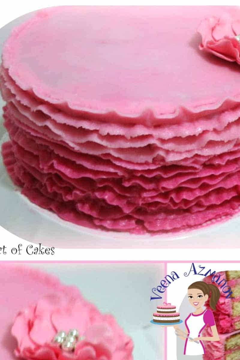 A Buttercream Ruffle Cake is perfect cake for a woman any age. Most women have a soft spot for ruffles and while they may not fancy wearing them they do love them on their cakes. Here's how I made my ruffles on this buttercream cake.