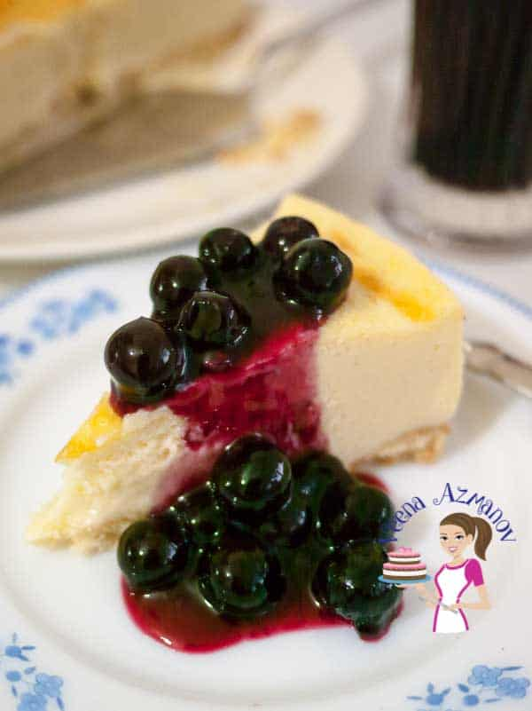 The Best Blueberry Cheesecake Recipe Veena Azmanov