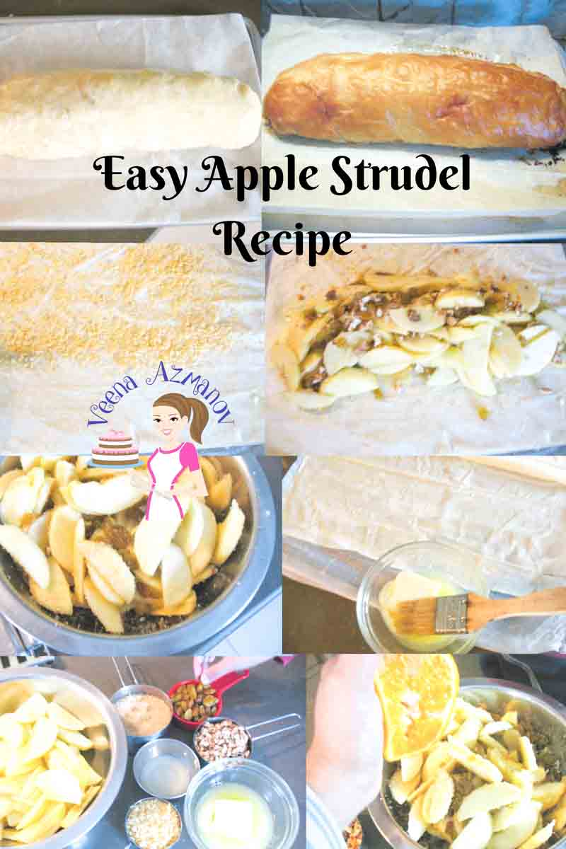 This Easy Apple Strudel recipe is simple and delicious. The sweet apples flavored with warm spices like nutmeg and cinnamon; then wrapped in filo pastry that bakes into a flaky delicious dessert you will love.