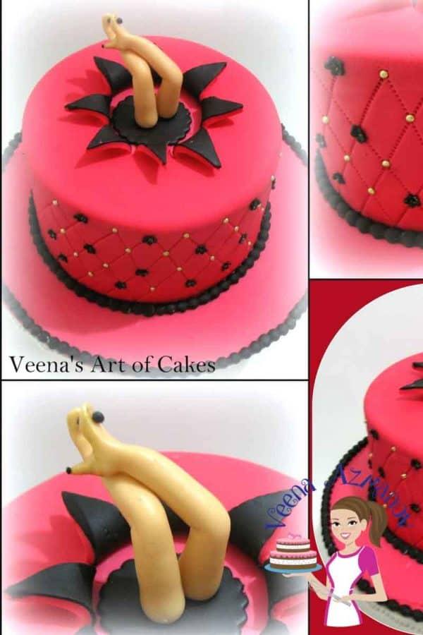 How To Make A Star Burst Cake Veena Azmanov