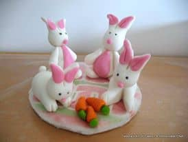How to make Gum paste Bunnies